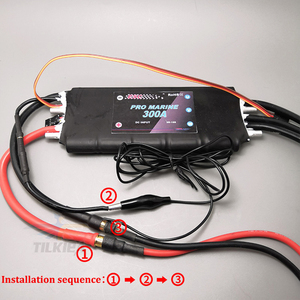 Image 2 - Rc 보트 300A 브러시리스 워터 쿨링 ESC 3s 16s 고전압 ESC