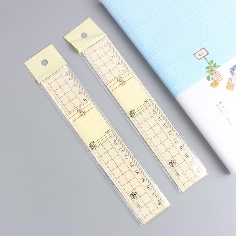 Simple Creative Scale Transparent Acrylic Scale Students Ruler Multi-functional Ruler 18 Cm