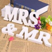White  Wooden Letters Lettre en bois English Alphabet Letras de Madera Wedding Decoration