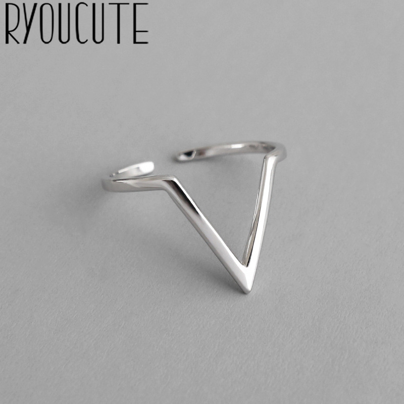 Bohemian Vintage Silver Color Large Geometric Rings For Women Gifts Girls Open Retro Antique Rings Wedding Jewelry 1