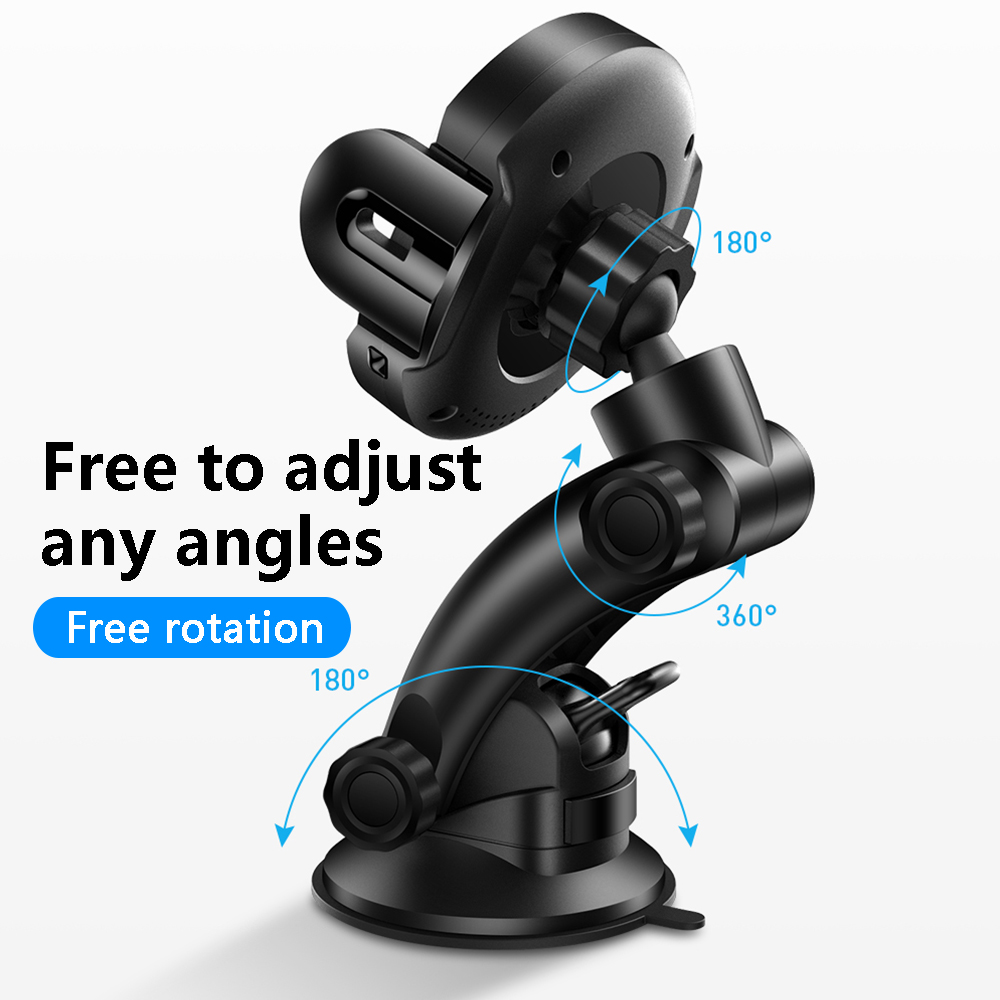 Image 4 - MCDODO 10W Qi Car Wireless Charger Air Vent Mount Holder Stand Automatic Infrared Clip Fast Charging For iPhone XS Samsung Phone-in Phone Holders & Stands from Cellphones & Telecommunications