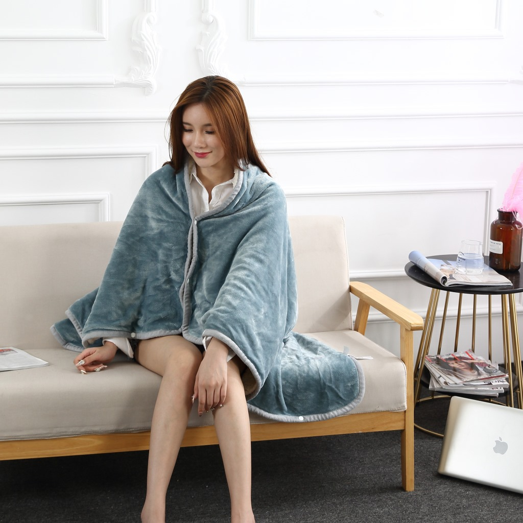 Flannel Blanket Hoodie Travel Totoro Blanket Soft Fuzzy Fluffy Blankets Sweatshirt Solid Winter Warm Fleece TV Blankets for Beds 10