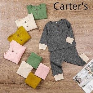 Carter's Autumn Popular Children's Wear Casual Isn 2-piece Baby Pullover Set Long Sleeve T-shirt Upper Garment Set Boys Clothes