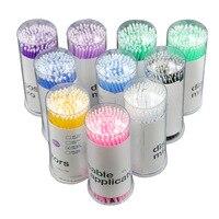 Cilia 100pcs/lot Durable Micro Disposable Eyelash Extension Individual Applicators Mascara Brush For Lash Building  Makeup Tools