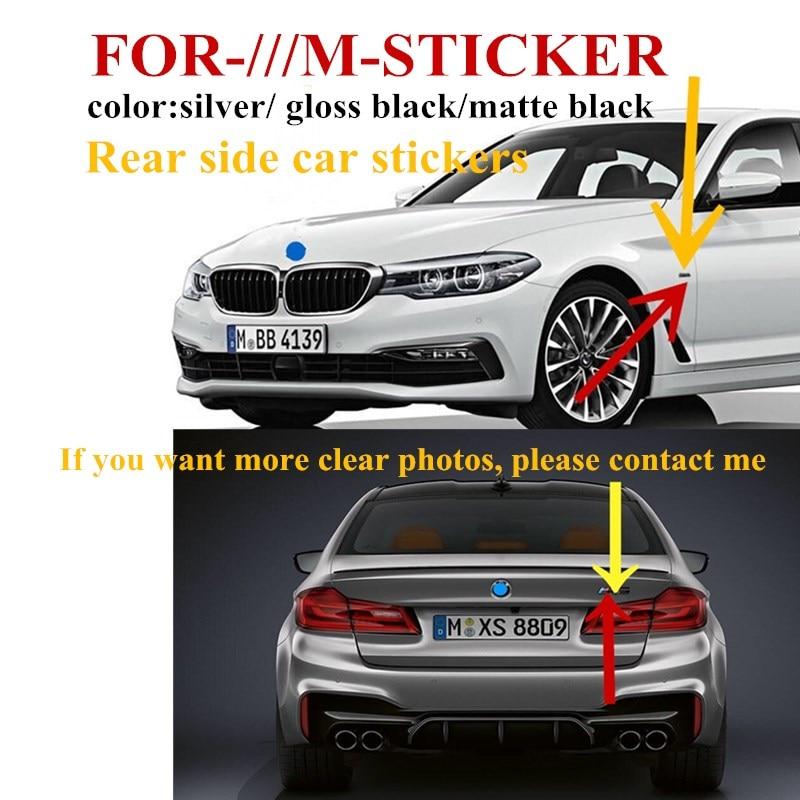 2pcsMpower M- SPORT боковое крыло хромированный черный значок багажника для BMW E46 E30 E39 E34 E60 E36 E38 M3 Автомобильная наклейка