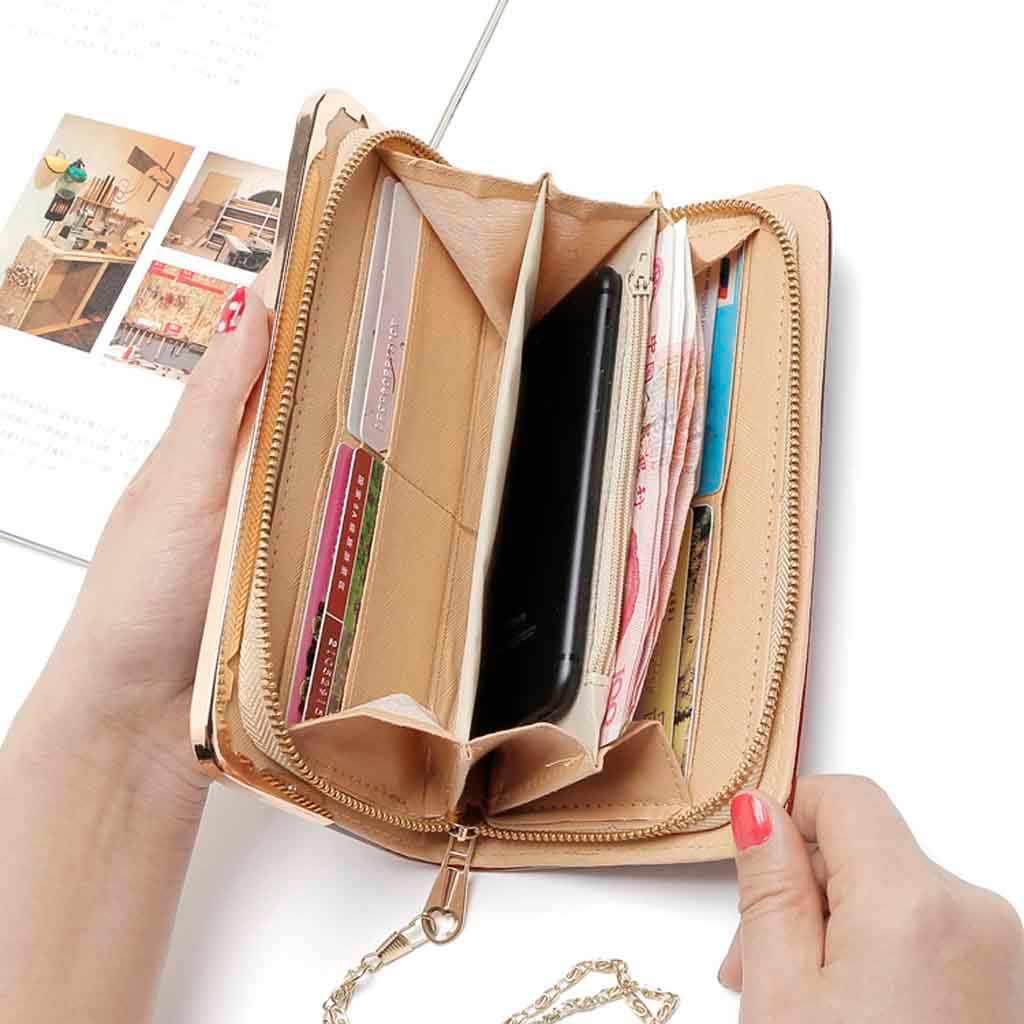 Женская, для девушек, длинная, лакированная кожа, градиентный цвет, сумка, радуга, кошелек, клатч, монета, мини, porte monnaie femme, кошелек, женский кошелек