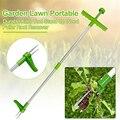 Инструмент для удаления корней на улице, портативный съемник для сорняков, ручной садовый съемник для травы с длинной ручкой, Алюминиевый, л...