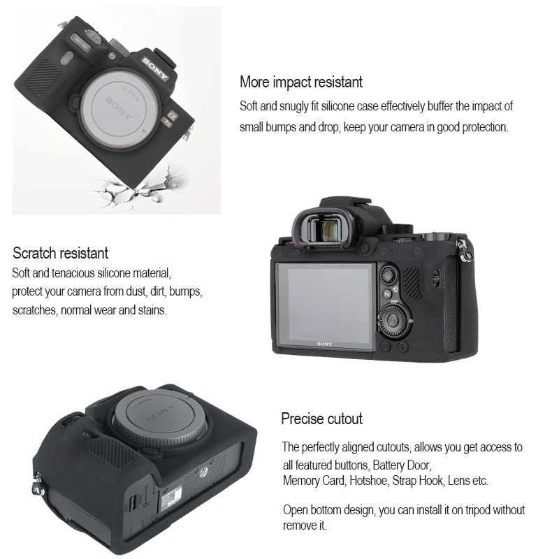 cheapest Camera Cover for Sony A7II A7R2 A7M2 A7S2 A7III A7R3 A7M3 a9 A7R4 Pro Camera Cover for Sony High Grade Litchi Texture