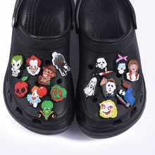 New Arrival Adult Croc Shoe Charms Horror Movie Clog Shoes Accessories American Film JIBZ PVC Decorations Shining IT Silence