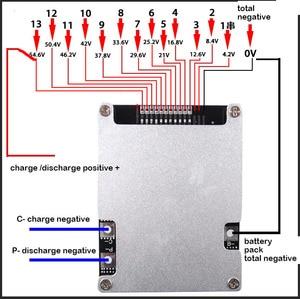Image 4 - 10S 13S 36V 48V 40A 60A リチウム電池保護ボードと電動自転車電動自転車バランス等化リチウムイオン 3.7V BMS 細胞