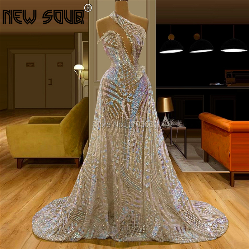 Customize Turkish Sheer Champagne Evening Dress Long Party Gowns 2020 New Middle East Arabic Kaftans Beading Prom Dress Vestido