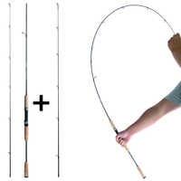 UL o L spinning rod 1.8m 0.8-5g 2-6g richiamo peso ultralight barre di carbonio 2-8LB linea di peso ultra light extra veloce basso pole