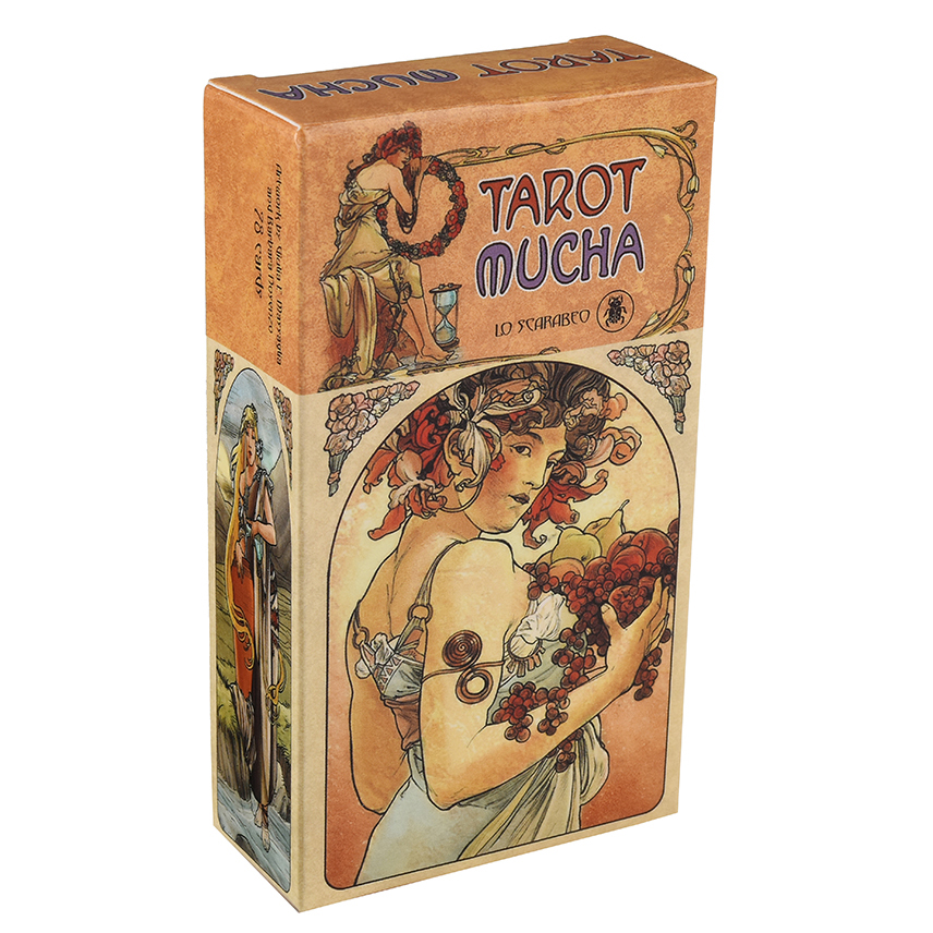 Tarot Mucha Cards By Lo Scarabeo E-Guidebook Tarot Game Toy Tarot Divination Card Game Board