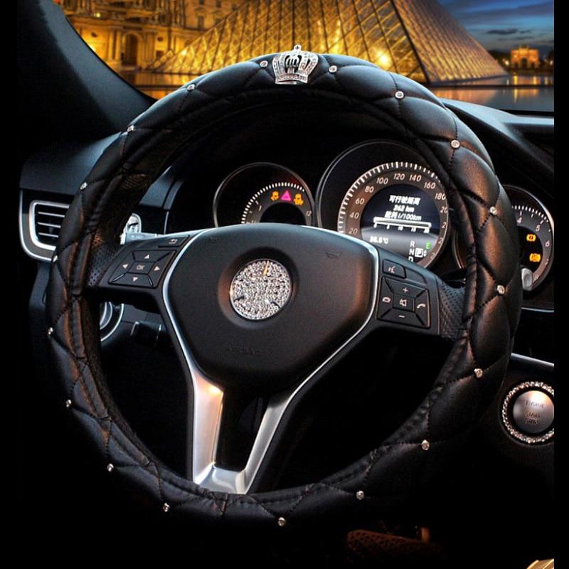 Universal-PU-Leather-Car-Steering-Wheel-Cover-bling-Rhinestone-Crystal-steering-wheel-covers-Set-with-Crystal (4)7