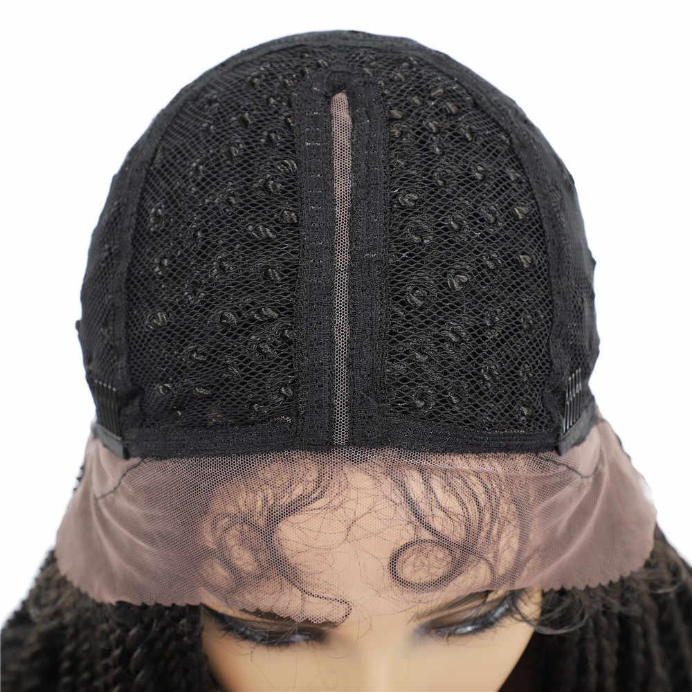 X-TRESS Dreadlock Wig Rambut Sintetis untuk Wanita Hitam Faux Locs Crochet Braid Gaya Rambut Panjang Hitam Coklat Berwarna Renda Depan Wig