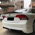 Автомобиль-Стайлинг R стиль блеск углеродного волокна/FRP спойлер заднего багажника  крыла Подходит для Honda Civic 2006-2011