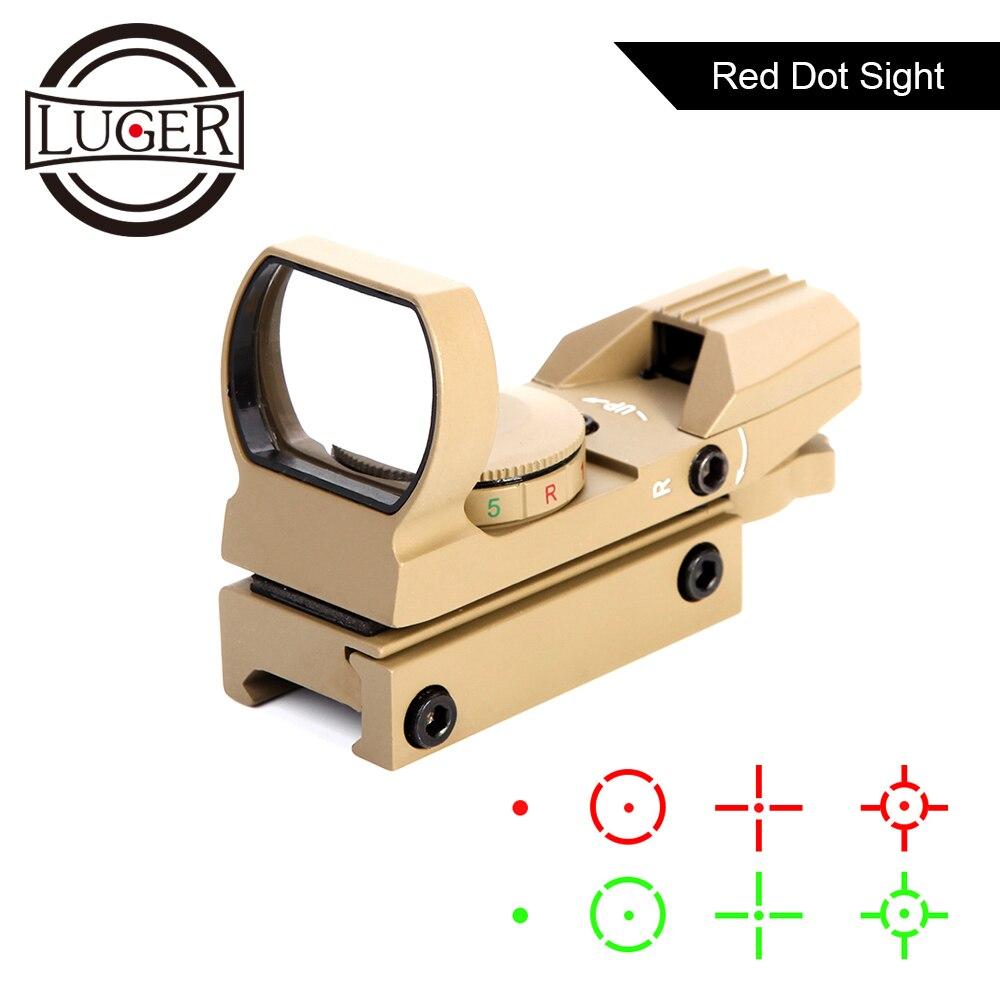 Red Dot Sight Reflex 4 Reticle Tactical Scope 20mm Rail Gun Riflescope Holographic Collimator Sight Hunting Optics Rifle Scope|Riflescopes| |  - title=