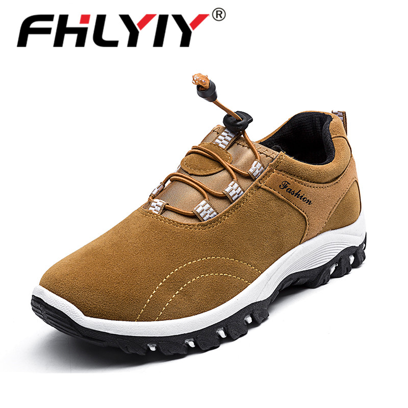 Fhlyiy Brand Casual Sneaker Outdoor Men Leather Shoes Comfortable Men'S Autumn Footwear Luxury Leather Men /Training Shoes Brown