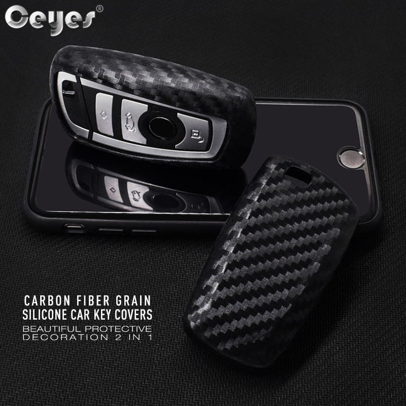 Ceyes Car Styling Auto Shell Carbon Fiber Lines Car Sticker Case For Bmw New 1 3 5 7 F10 F20 F30 Series Car-Styling Accessories image