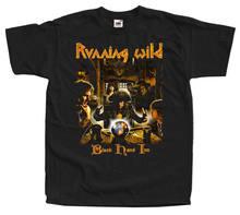 Correndo selvagem preto mão inn 1994 camiseta tamanhos pretos 100% algodão camiseta verão novidade dos desenhos animados t camisa