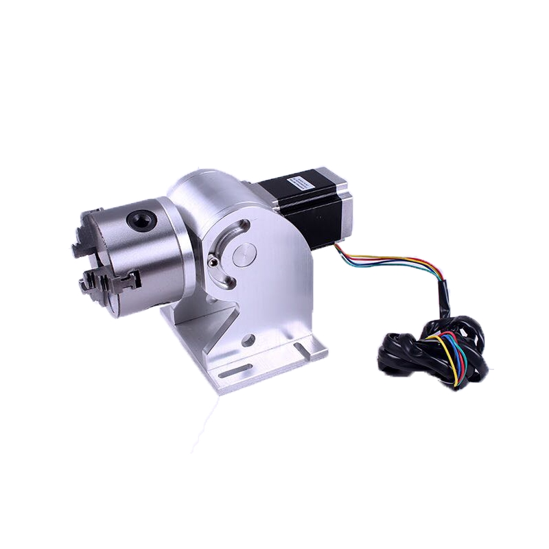 3 Claws Rotary Axis 80mm Max For 20w 30w 50w Fiber Laser Metal Laser Engraver Engraving Machine