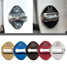 4 шт. отделка дверного замка Защитная крышка чехол с эмблемой Для Mugen Мощность Honda Civic Accord CRV вариабельности сердечного стайлинга автомобилей