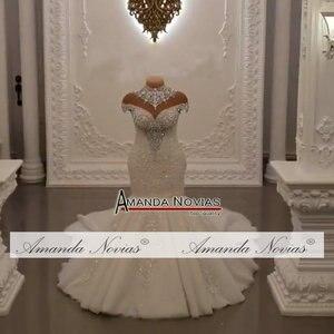 Image 2 - ชุดเดรสเมอร์เมดแอฟริกา 2020 ลูกไม้ Appliques CUSTOM Made ชุดแต่งงาน vestidos de noiva