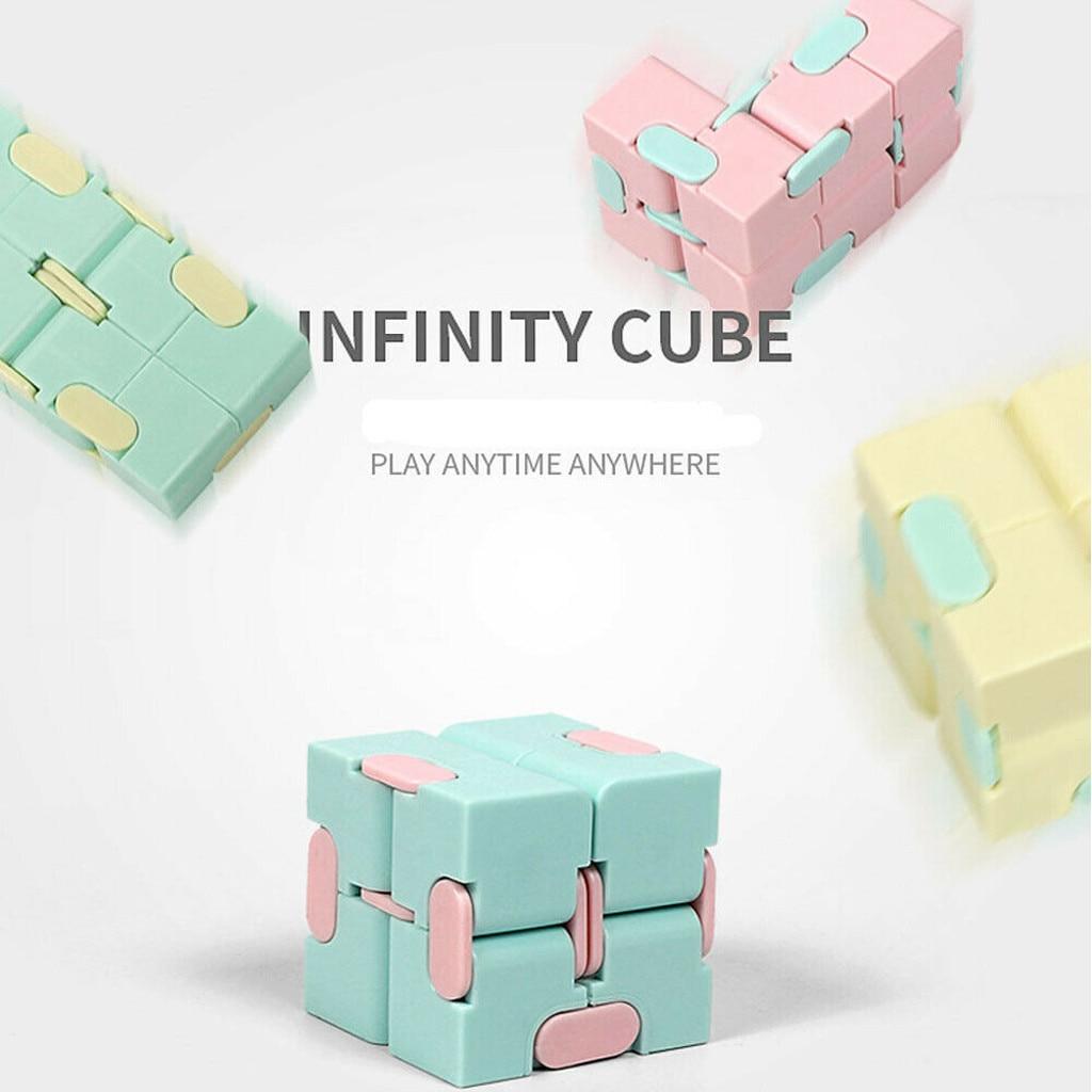 Игрушки-антистресс для детей, портативные легкие квадратные антистрессовые игрушки, бесконечность, куб-головоломка, сенсорные игрушки