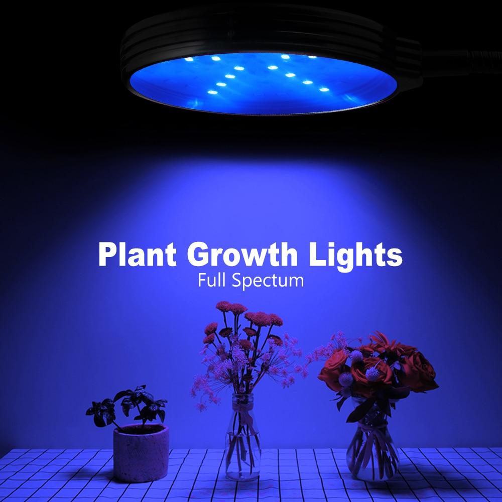 30W LED Phyto Lamp Lights Full Spectrum Dimming Timer LED Plant Grow Light For Hydroponic Seedling Flower USB Powered Fito Light