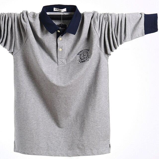 Купить осенняя мужская рубашка поло размера плюс 5xl l 2020 хлопковая картинки цена