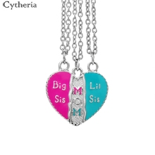 mother daughter necklaces big sis mom little sis Splicing necklace big sis lil sis Family necklace 3 pcs/ Set Of Candy Color