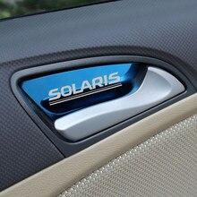 Car Accessories Auto Door Bowl Handle Wrist Cover Trim Fit For hyundai Solaris 2010-2016 Auto Sticker Car Styling