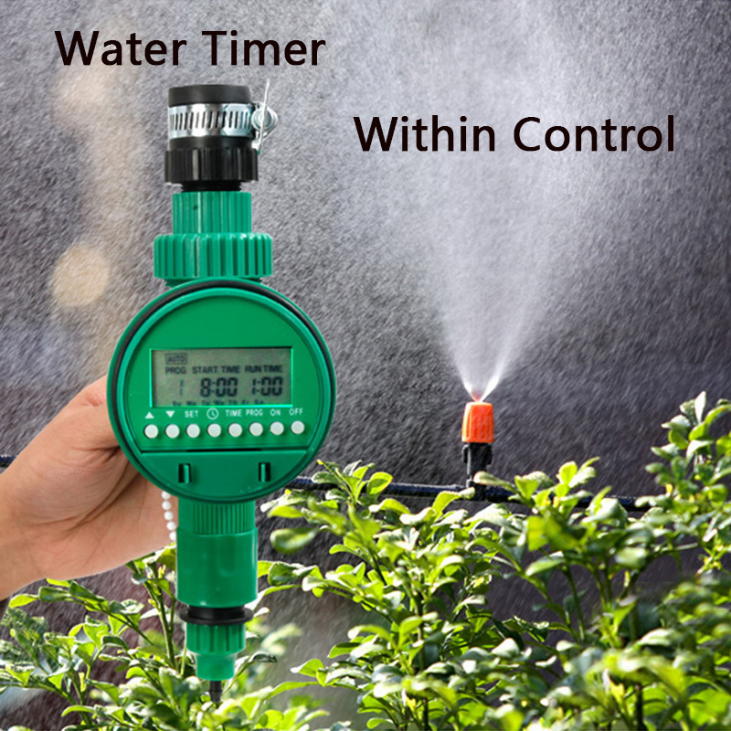 1Pc Water Timer Garden Automatic Irrigation Watering Timer Hose Faucet Tap Controller title=