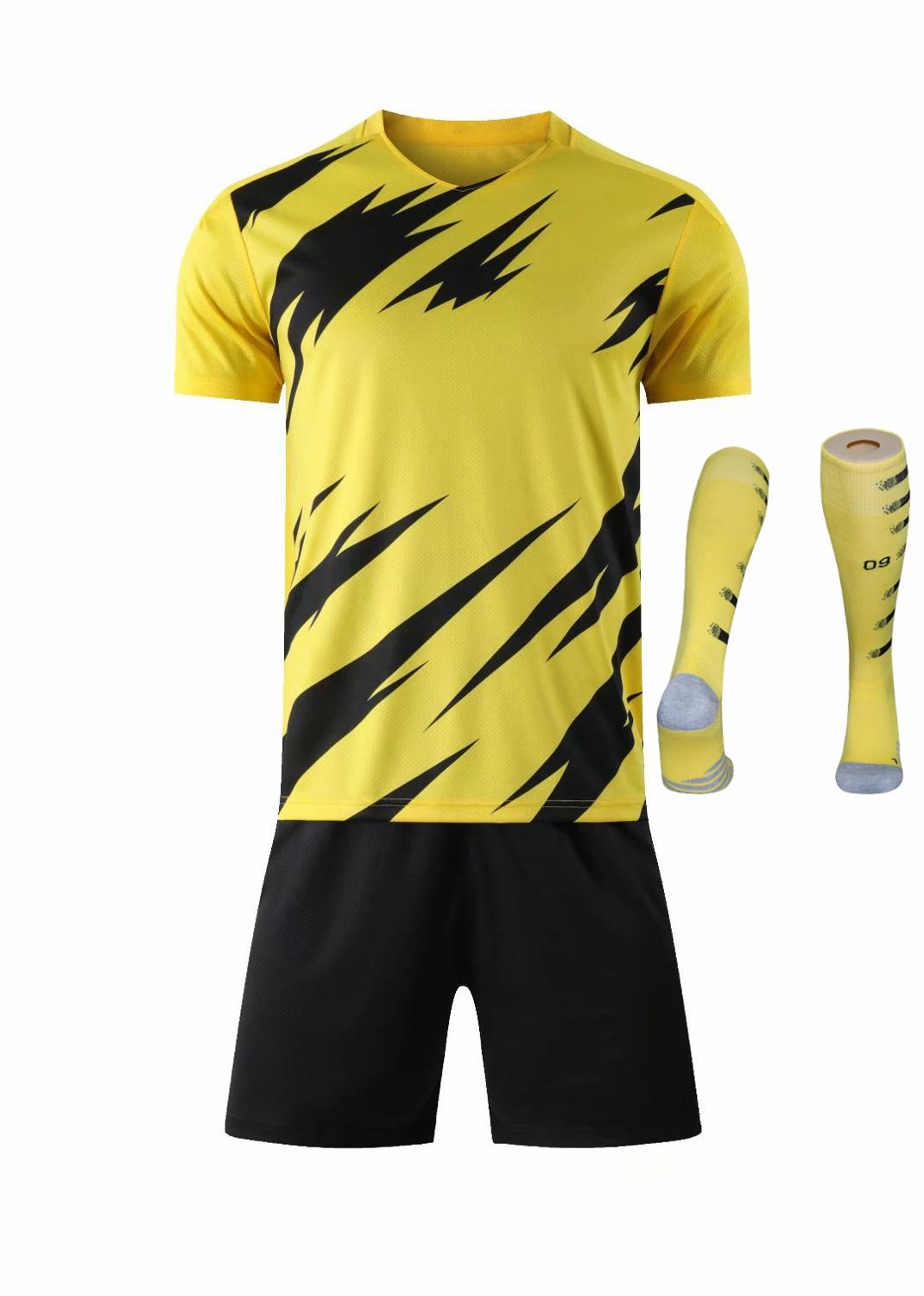Children Sets football uniforms boys and girls sports kids youth training suits blank custom print soccer set with socks 32
