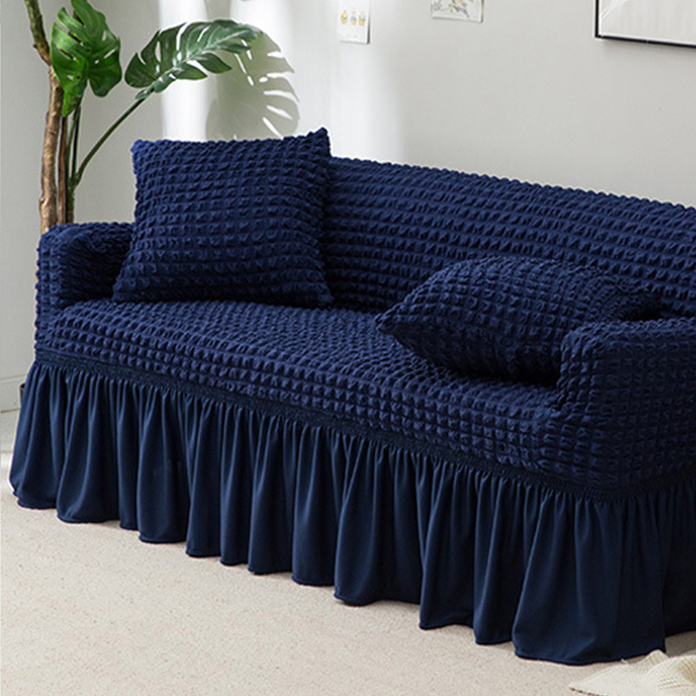 New Jacquard Sofa Cover With Skirt European Sectional Couch Elastic Sofa Cover Mat Stretch For Living Room Armchair Slipcover