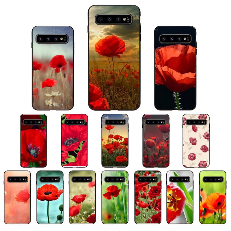 Red Poppies Poppy flowers Phone Case For Samsung Galaxy S10 Plus S10E S20 S20 UlTRA S7 S8 S9 Plus S10lite S20 plus