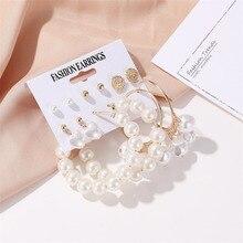 Yobest, pendientes de perlas con borla para mujer, conjunto de pendientes geométricos con corazón, joyería de moda femenina, regalo para Amiga