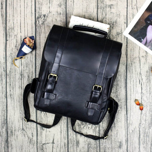 Image 4 - Fashion Women Backpack PU Leather School Bag Vintage Large Schoolbag For Teenage Girls Brown Black Backpacks Men Rucksack XA30H