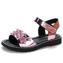 New Crystal Sandals Girls Shiny Summer Shoes Children Beach for Princess Kids Casual Size 27-37