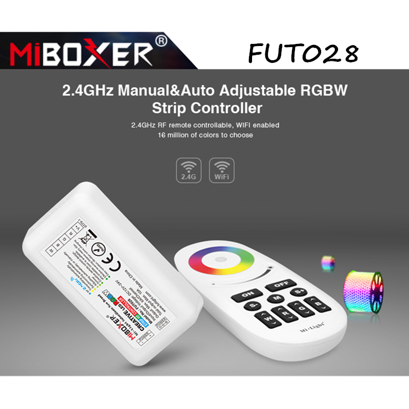 Miboxer <font><b>FUT028</b></font> 2.4GHz Manual&Auto Adjustable 2.4G Wireless Touch Screen RGBW LED Controller DC12-24 Remote Control for LED Strip image