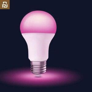 Image 1 - 2019 youpin philips smart led cor bulbo e27 luz 1880 7000 k wifi mi casa app controle remoto lâmpada led