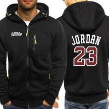 Мужская осенняя куртка с принтом Jordan 23, мужские толстовки с капюшоном, модная брендовая уличная одежда на молнии, уличный спортивный костюм ...
