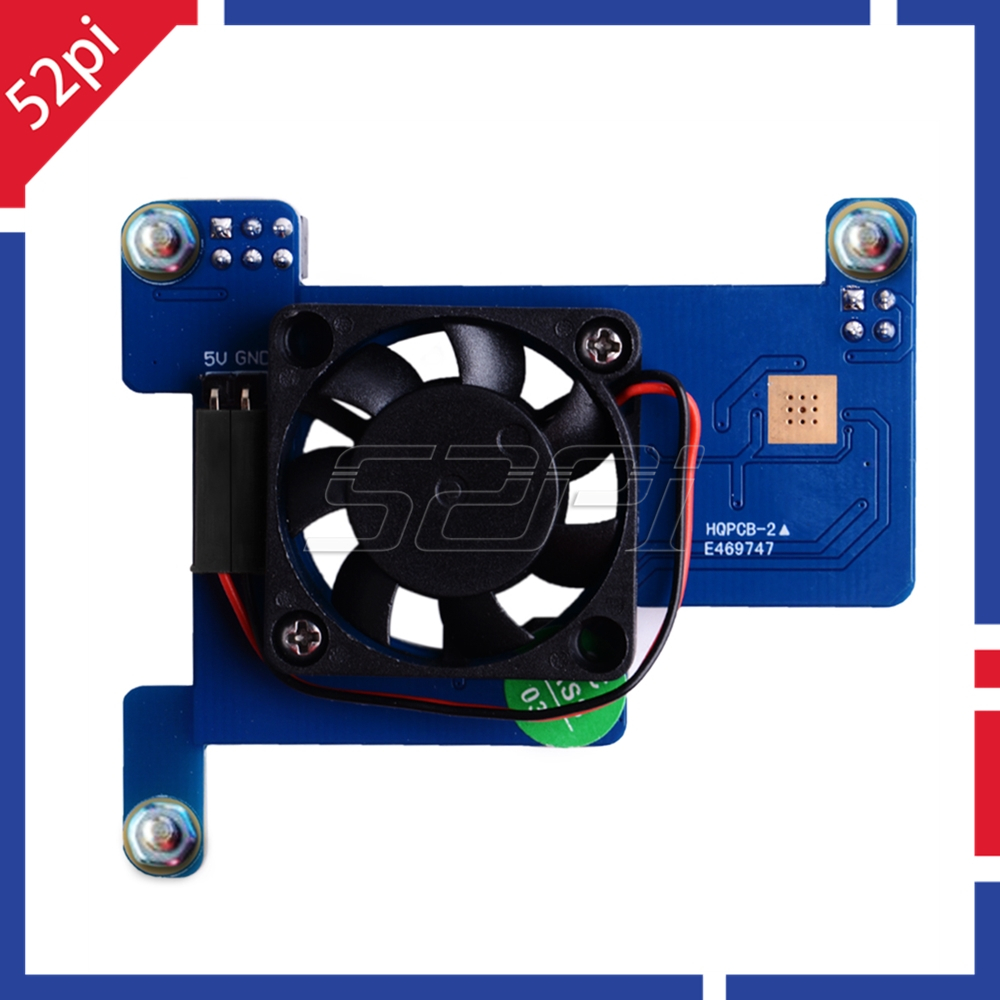 52Pi <font><b>Raspberry</b></font> <font><b>Pi</b></font> PoE HAT Module <font><b>Power</b></font>-Over-Ethernet Expansion Board with Cooling Fan 30x30x7mm for <font><b>Raspberry</b></font> <font><b>Pi</b></font> <font><b>4B</b></font> / 3B+ image
