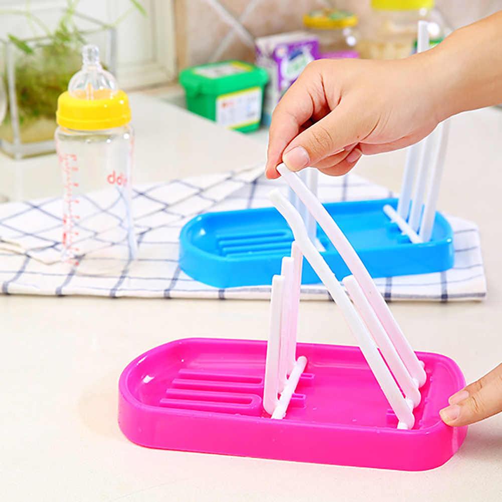 Botella para bebé recién nacido estante de secado de alimentación de vidrio estante de secado secador de limpieza escurridor de almacenamiento de alimentos para niños