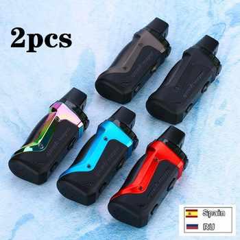 2pcs!!! Geekvape Aegis Boost 40W Pod Mod Kit 1500mAh Batteria 2ml/3.7ml Riutilizzabile Pod Fit Sia pod & RDTA E-cig Vape Kit VS Solo