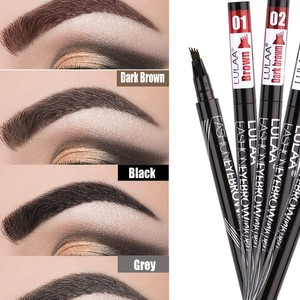 4 Fork Brown Maroon Black Gray Waterproof Long Lasting Sketch Non-fading Eyebrow Pencil 4 Colors Nude Tint Pen Makeup Tools