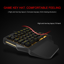 ライト片手メカニカルゲーミングキーボード 35 キーゲーミングキーパッドクールな光 RGB バックライト Pc PS4 xbox
