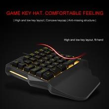가벼운 한 손으로 기계식 게임 키보드 35 키 게임 키패드 쿨 라이트 rgb 백라이트 게임 컨트롤러 pc ps4 xbox 용