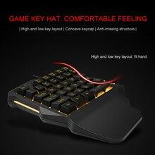 Licht Een Hand Mechanische Gaming Toetsenbord 35 Toetsen Gaming Toetsenbord Koel Licht RGB Backlit Game Controller Voor PC PS4 xbox