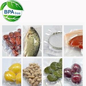 Image 3 - 5 Rolls / 1lot 12+15+20+25+28*500 cm Vacuum Sealer Bags Food Storage Bags for Vacuum Sealer Fresh Food Packing Packer